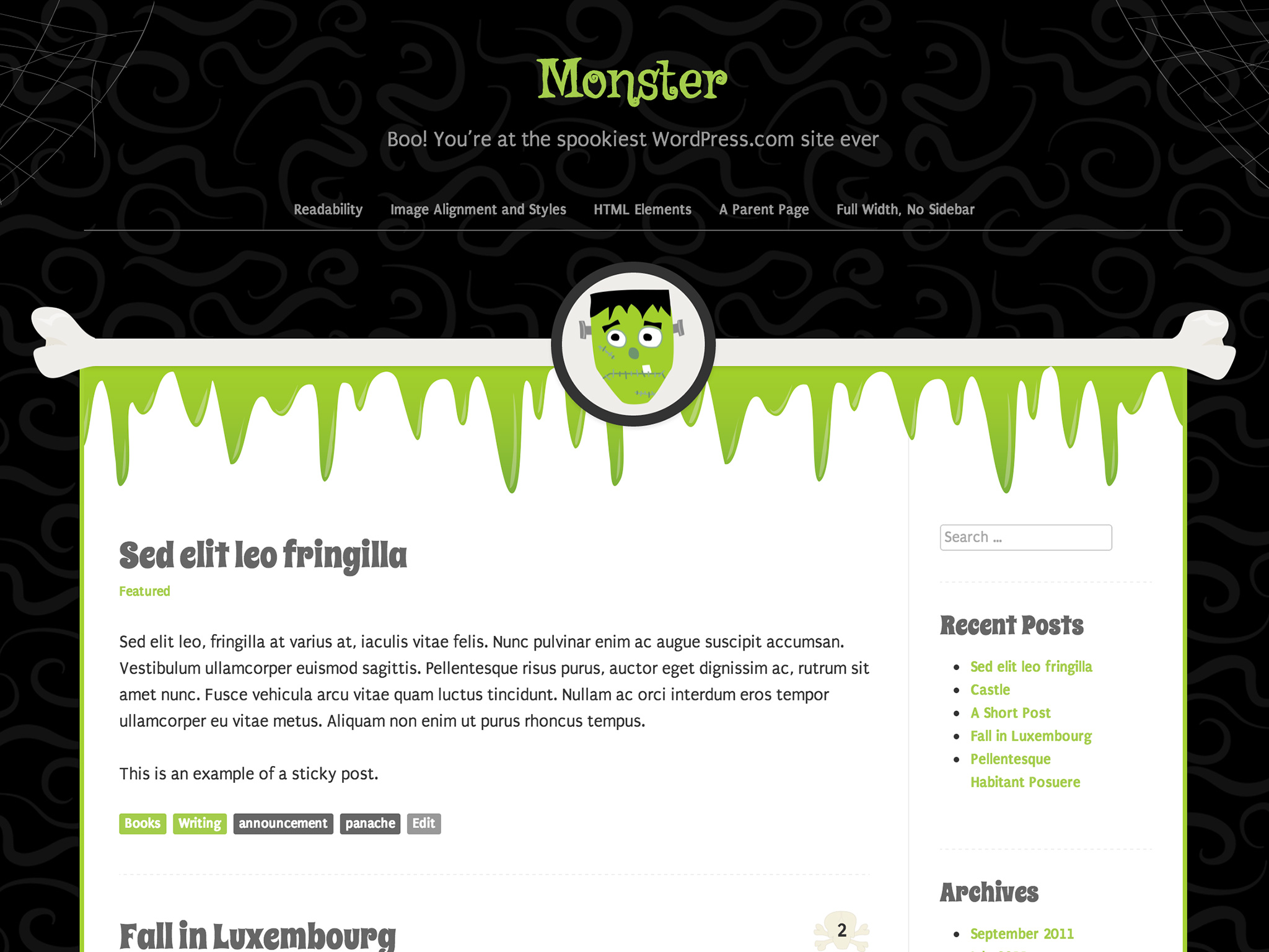 Monster WordPress Theme